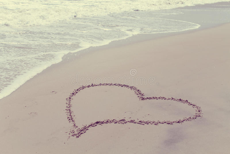 Strand-Liebe stockfotografie