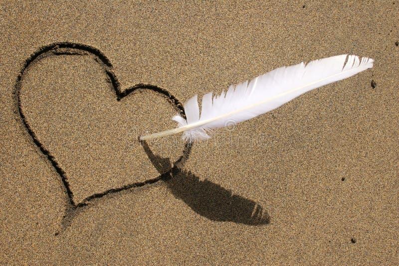 Strand-Liebe lizenzfreie stockfotografie