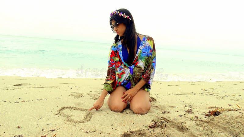 Strand-Liebe stockbilder