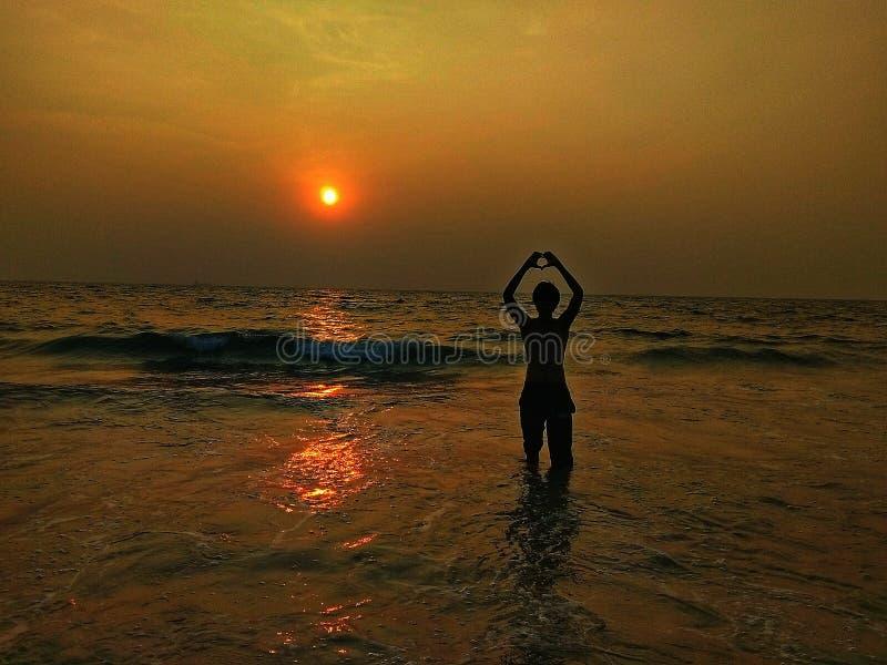 Strand-Liebe lizenzfreie stockfotos