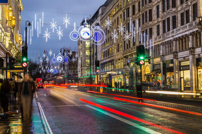 Strand in London at Christmas royalty free stock photos