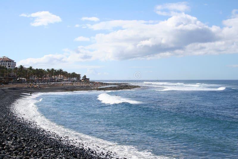 Strand in Los Christianos royalty-vrije stock foto's