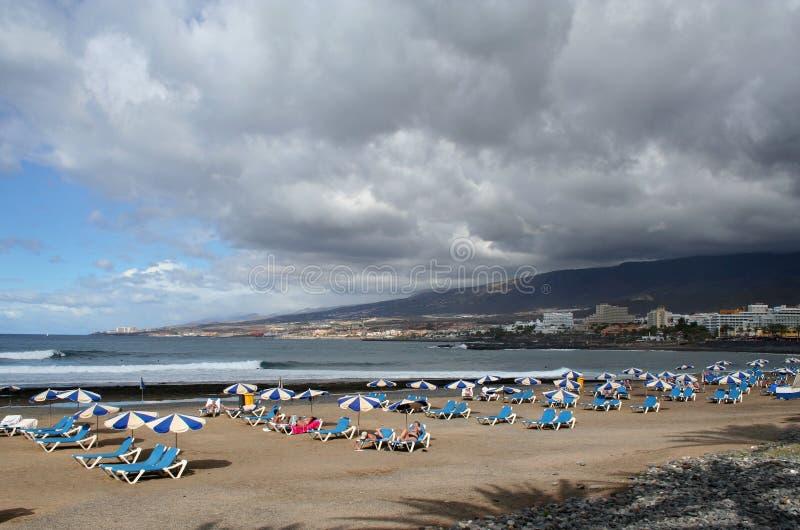 Strand in Los Christianos stock afbeeldingen