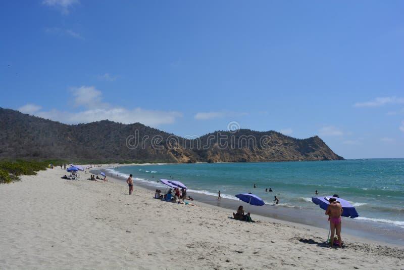 Strand Los Frailes, Ecuador, einer der schönsten Strände des Landes stockfotos