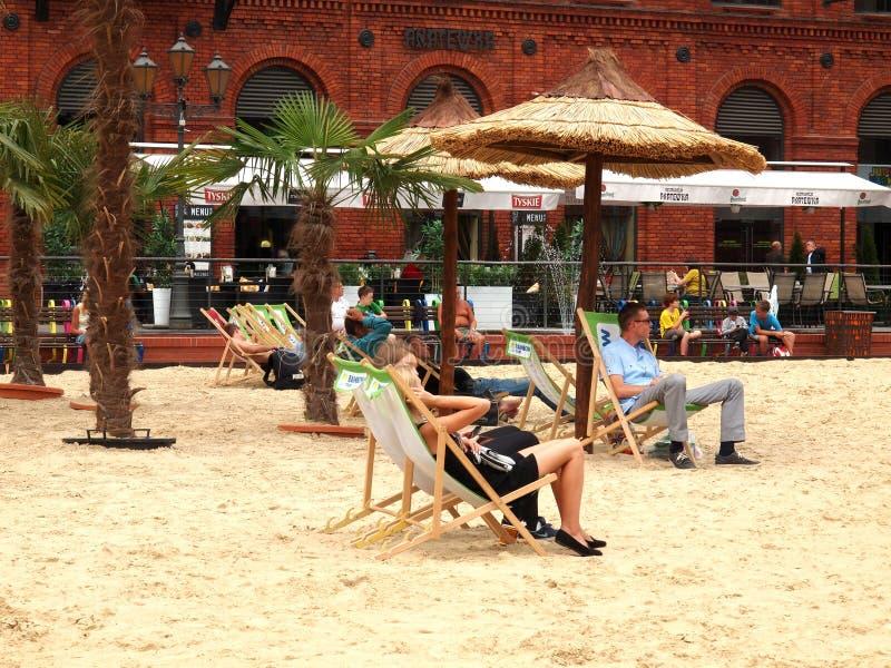 Strand Manufaktura royaltyfri bild