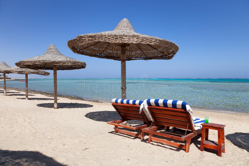 Strand Marsa Alam in Ägypten lizenzfreie stockfotos