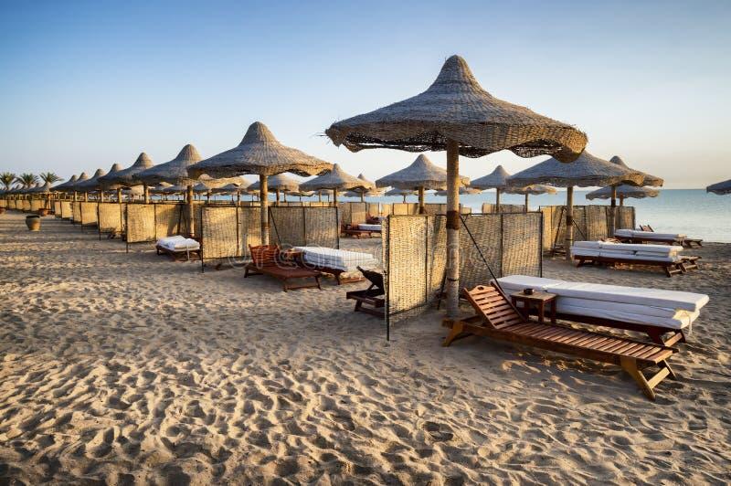 Strand in Marsa Alam, Egypte stock foto