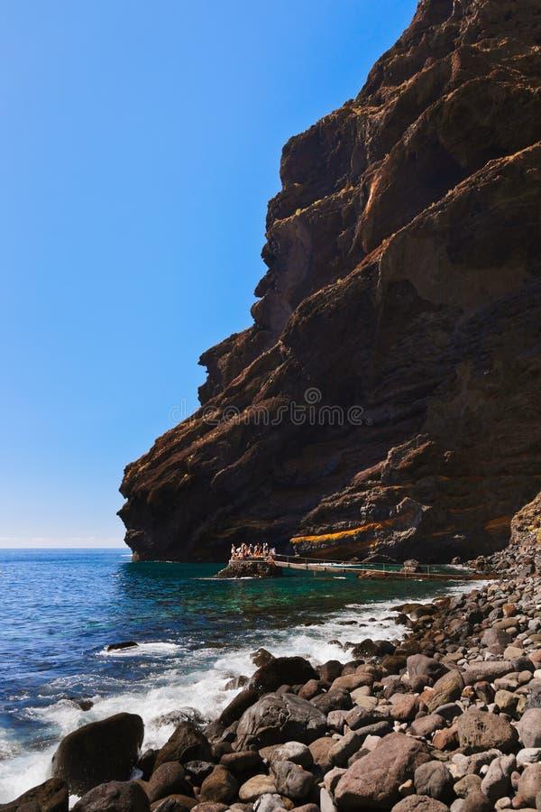 Strand Masca in het eiland van Tenerife - Kanarie stock foto