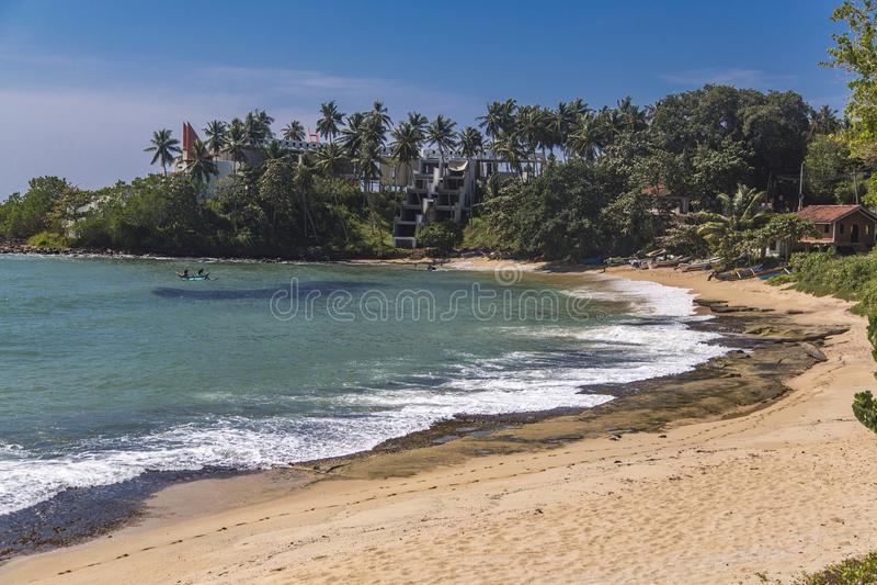 Strand in Matara, Sri Lanka stock afbeelding
