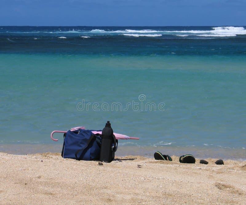 Strand-Materialien Stockfoto