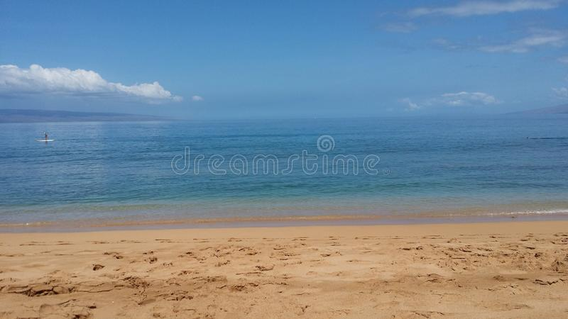 Strand in Maui stock afbeelding