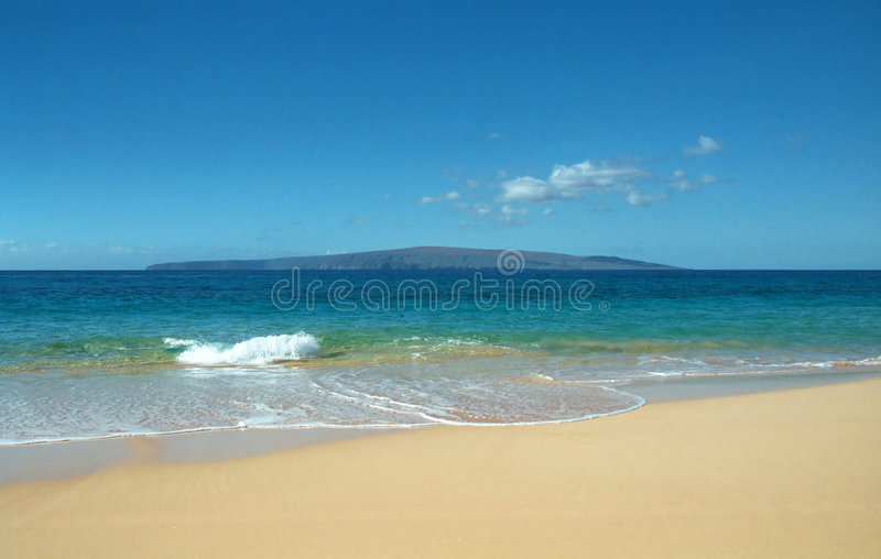 Strand in Maui, Hawaï royalty-vrije stock foto