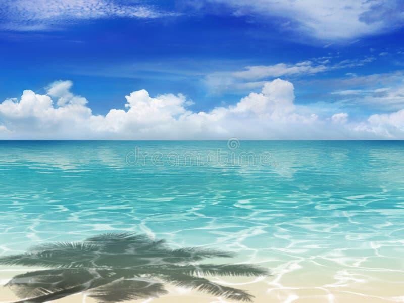 Strand med skugga royaltyfria bilder