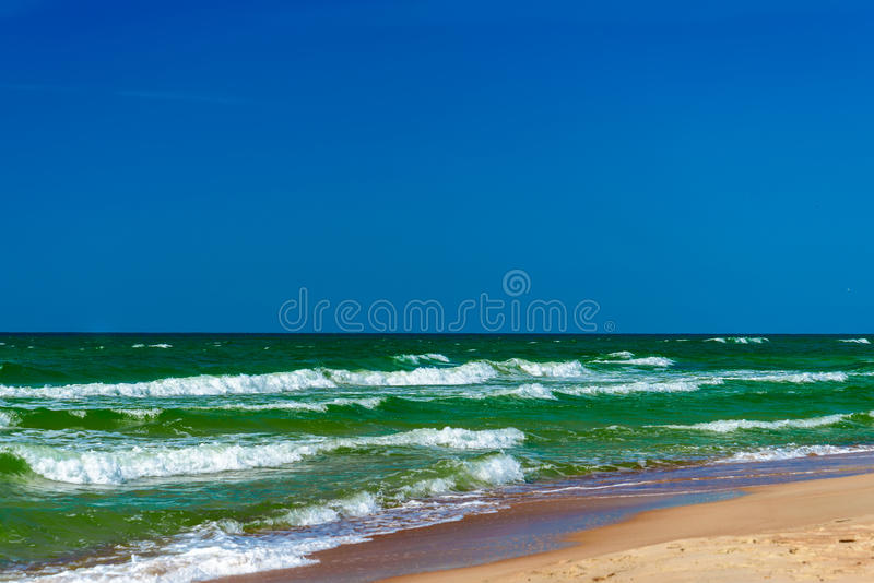 Strand, Meer, Landschaft Nida, Litauen lizenzfreie stockbilder