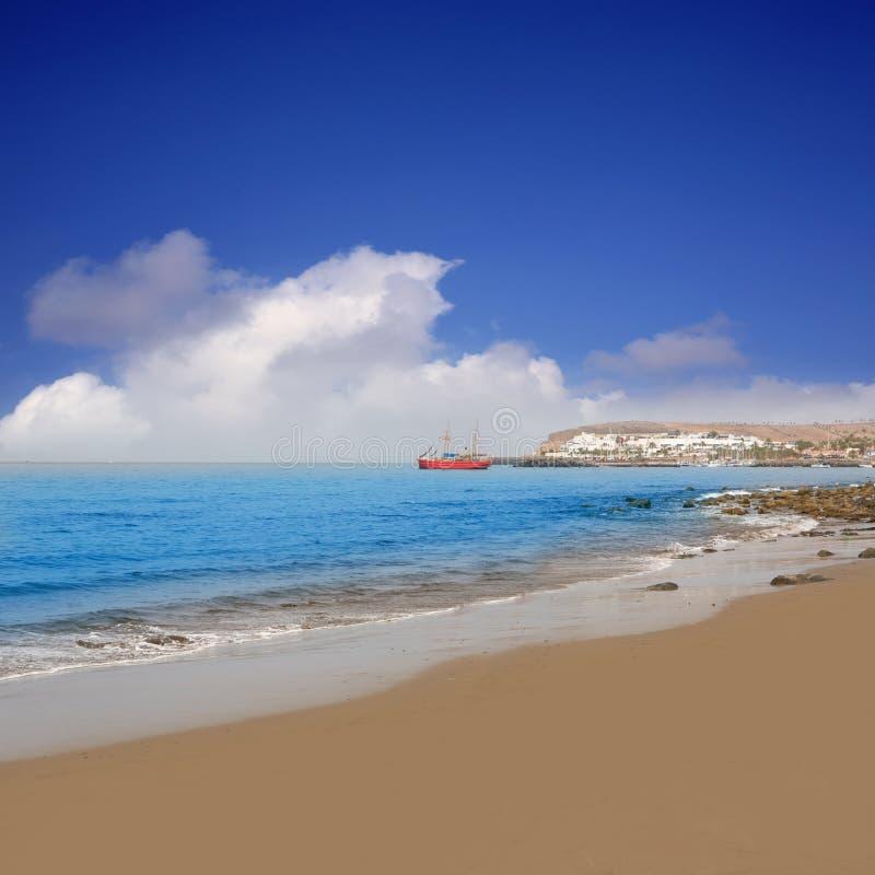 Strand Meloneras in Gran Canaria San Bartolome stockbilder