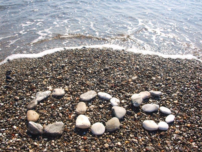 Strand met onduidelijk beeld blauwe overzees Kos stock fotografie
