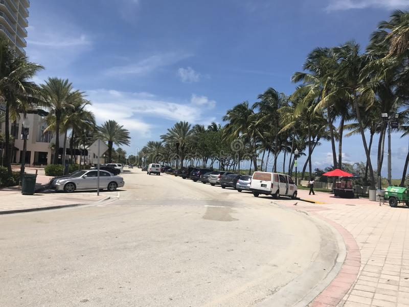 strand miami arkivfoton