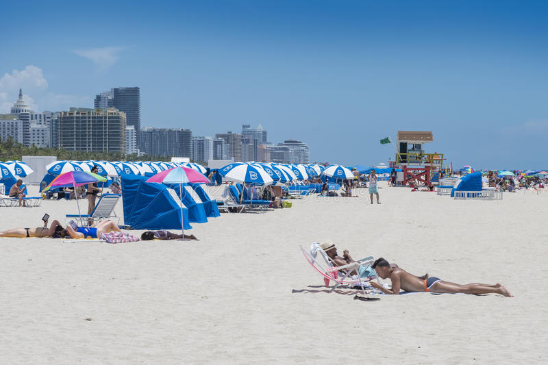 Strand in Miami Florida stock foto