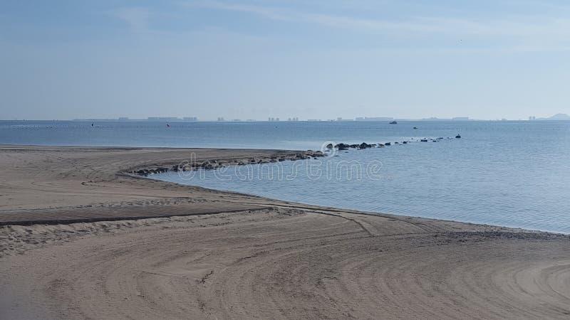 Strand Murcia, Spanien för Los Alcazares arkivfoto