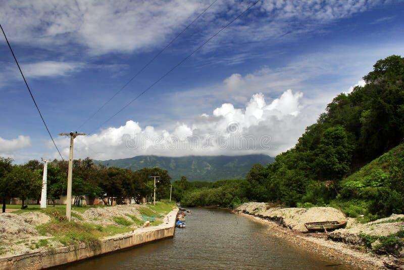 strand nära obfloden santiago royaltyfri fotografi