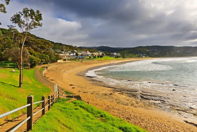 Strand nahe Portcampbell stockbild