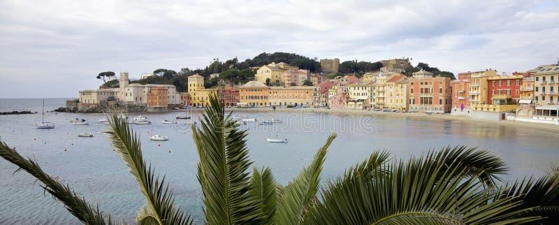 Strand nannte Bay der Ruhe in der Sestri Levante-Stadt Italien stockbilder