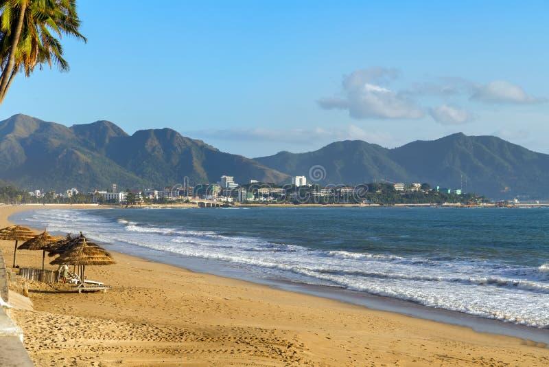 Strand in Nha Trang royalty-vrije stock afbeelding