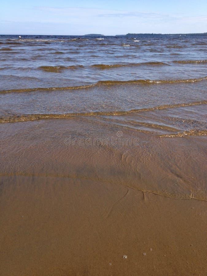 Strand in Noord-Zweden stock afbeelding