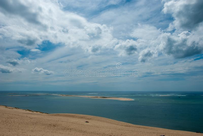 Strand in Normandie lizenzfreies stockbild