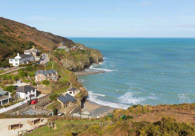 Strand norr Cornwall England UK för St Agnes arkivfoto