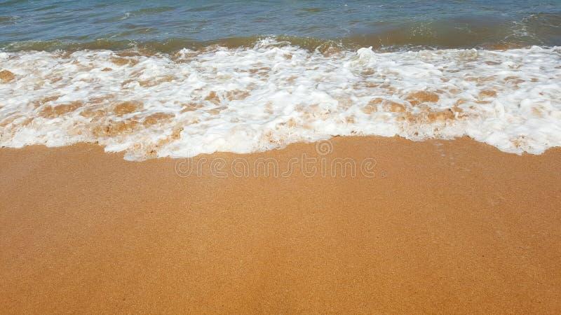 Strand och sand royaltyfri bild