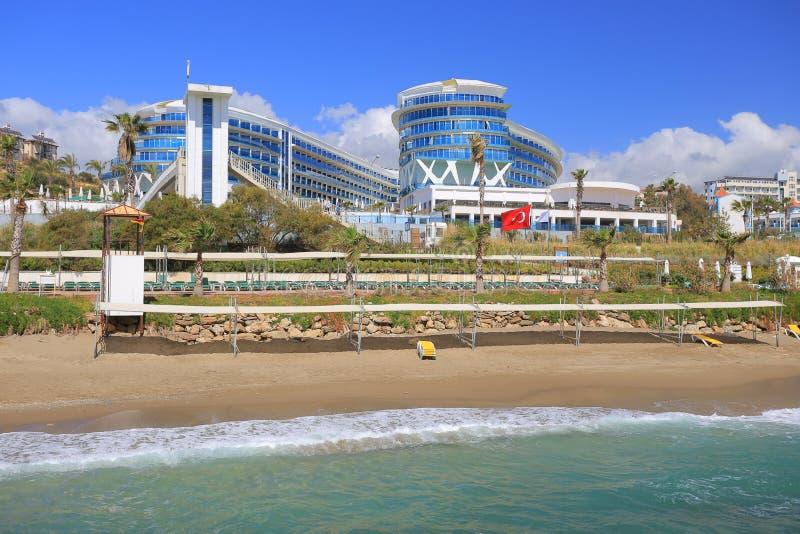 Strand och semesterort royaltyfri fotografi
