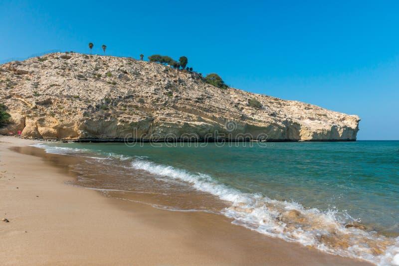 Strand in Oman stockbilder