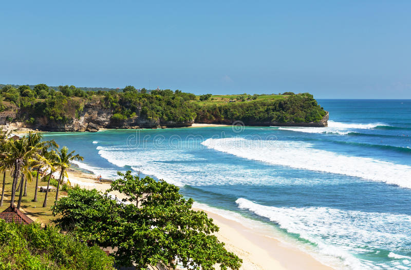 Strand op Bali stock foto's