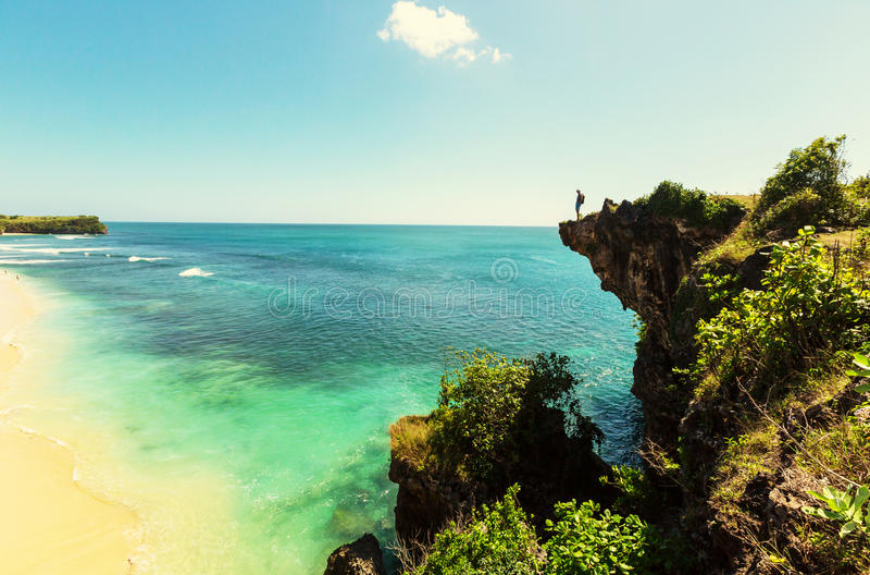 Strand op Bali royalty-vrije stock fotografie