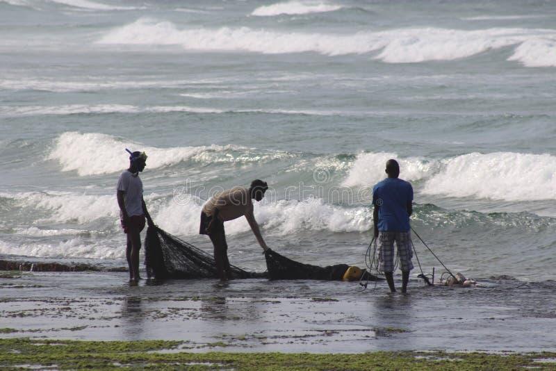 Strand op de kust van Mozambique royalty-vrije stock fotografie
