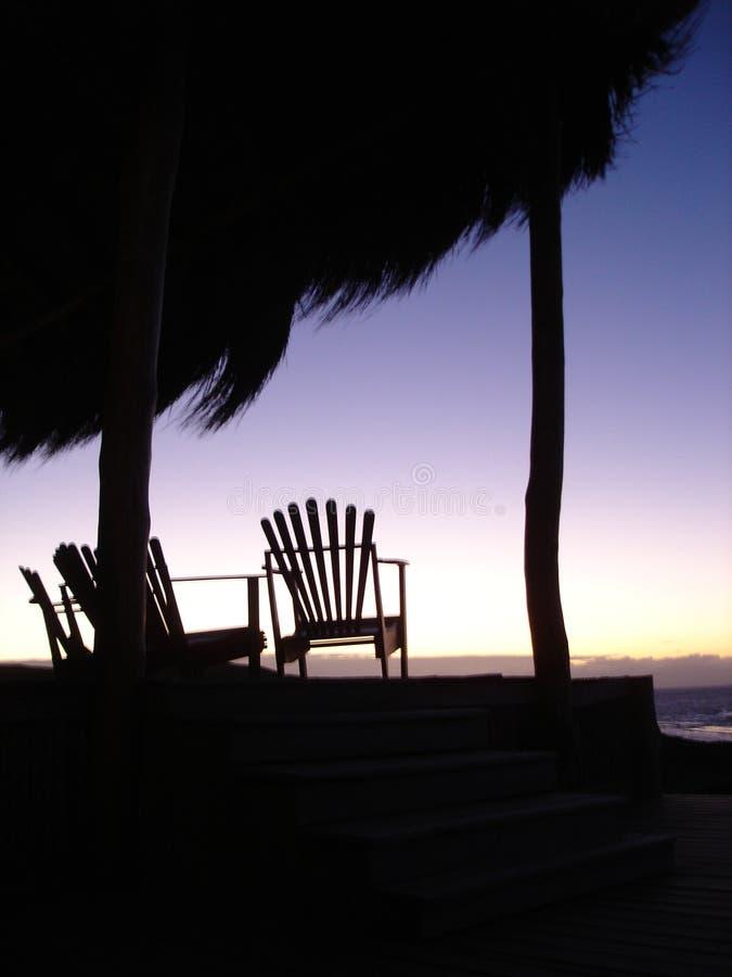 Strand op de kust van Mozambique royalty-vrije stock foto