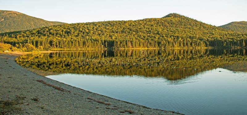 Strand op Grote Nictau bij Onderstel Carleton Provincial Park royalty-vrije stock afbeelding
