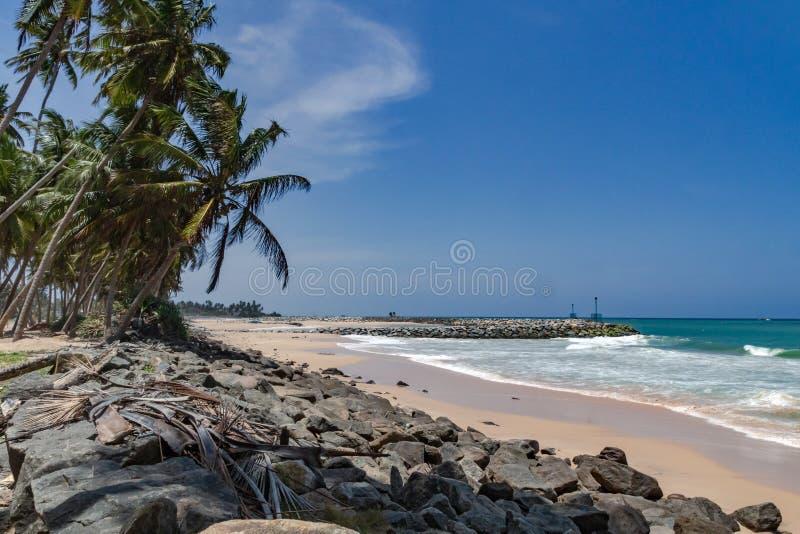 Strand am Ozean von  Sri Lankas royalty free stock photo