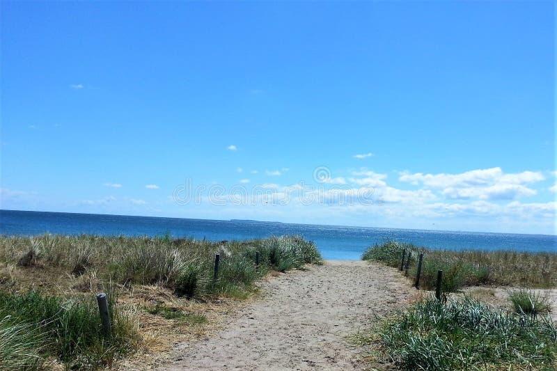 Strand på ön av Ruegen arkivfoton