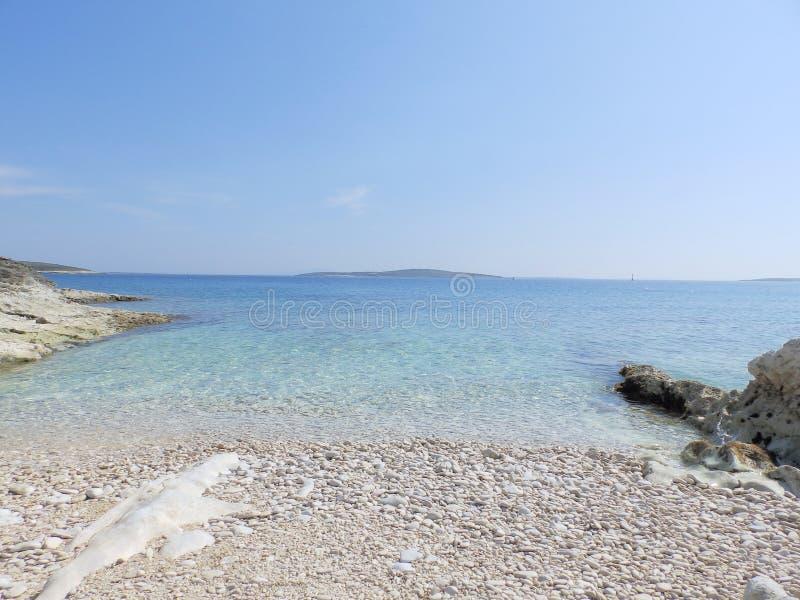 Strand på Adriatiskt havet arkivfoton