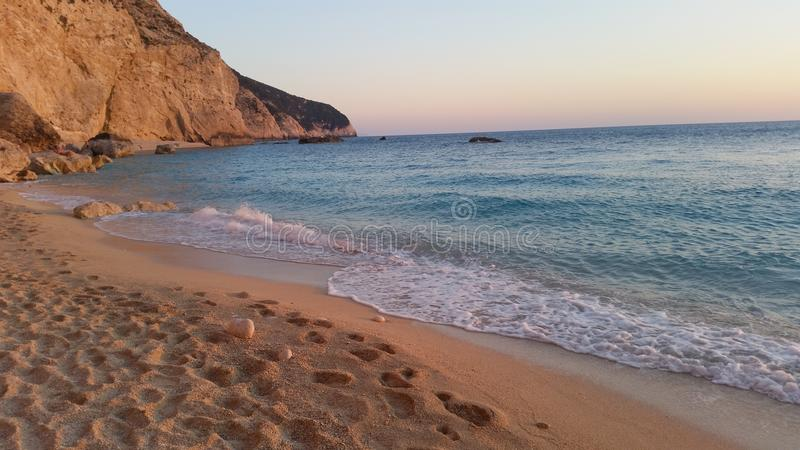 Strand på det Ionian havet arkivbilder