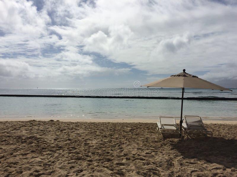 strand på Oahu, Hawaii arkivbilder
