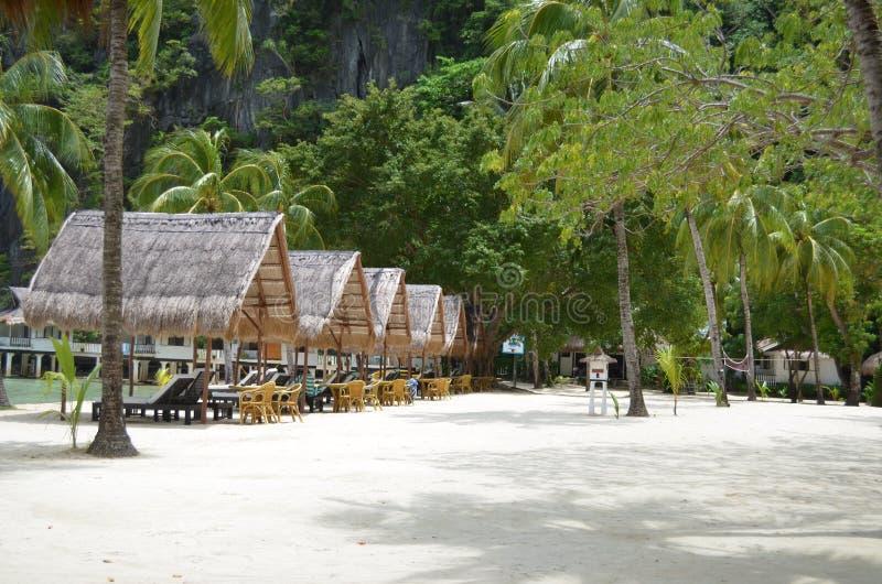 Strand på Palawan, Filippinerna arkivfoto