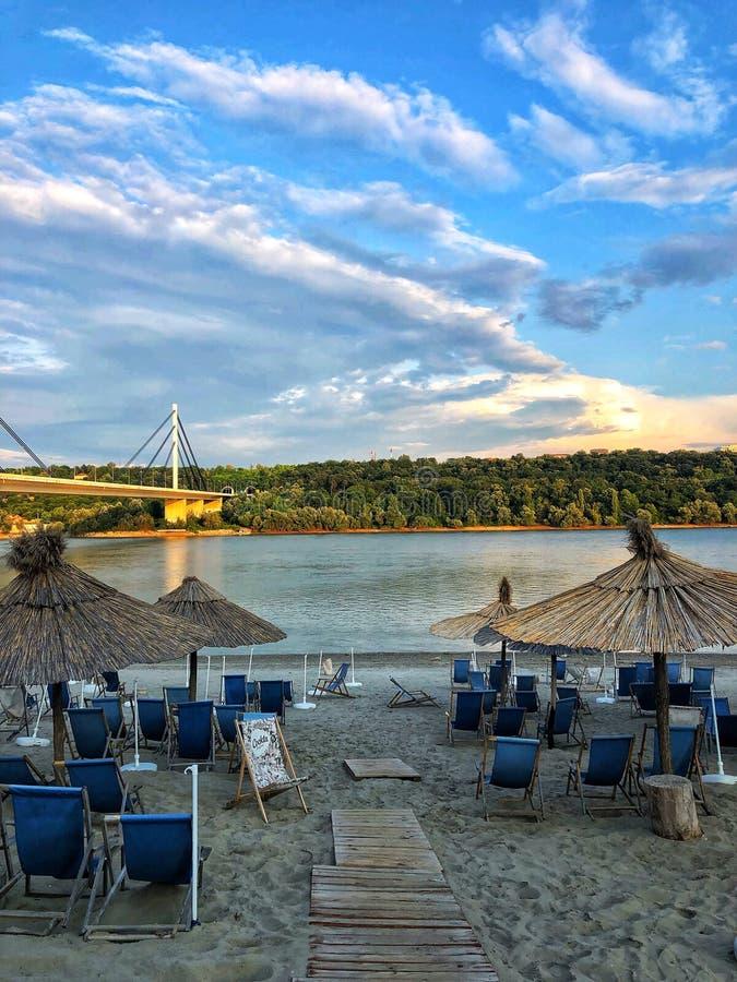 Strand på Serbien arkivbild