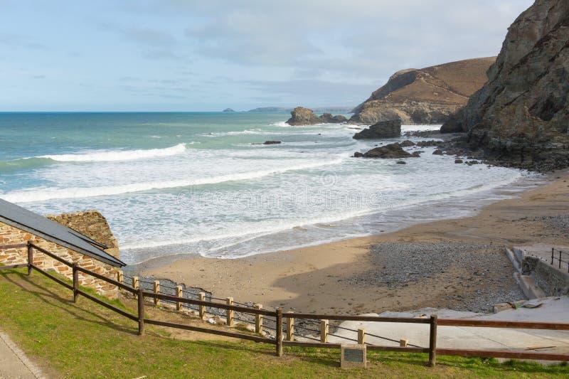 Strand på St Agnes North Cornwall England UK arkivfoton