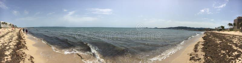 Strand in Palma de Mallorca stockfoto