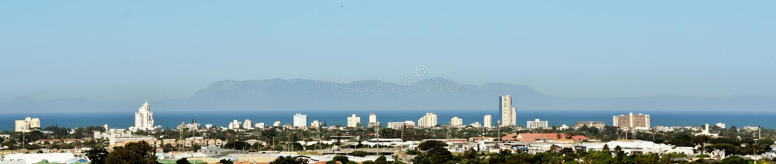 City of Strand in South Africa. Panorama with the City of Strand in South Africa royalty free stock photo