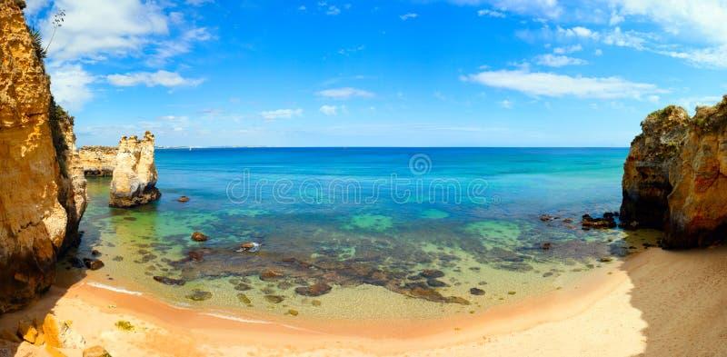 Strand, panorama royalty-vrije stock afbeeldingen