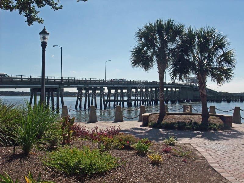 Strand parkerar Beaufort South Carolina royaltyfria foton